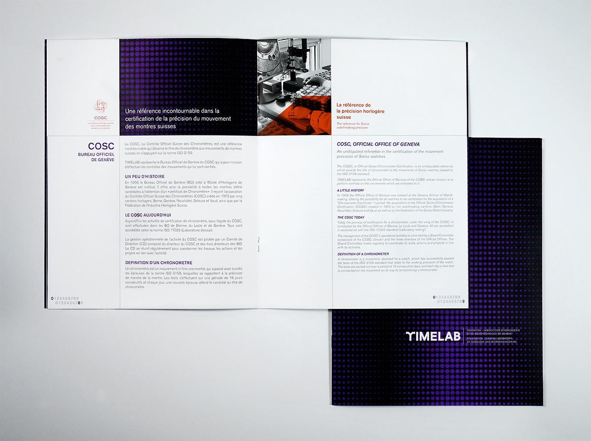 Projet TimeLab  realisé par agence de communication le coq